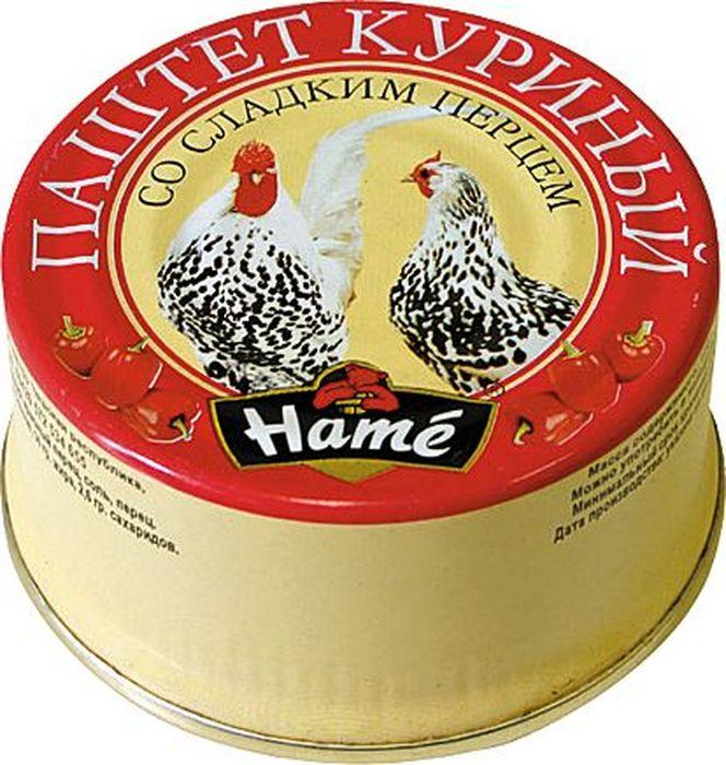 Hame Паштет куриный со сладким перцем, 117 г hame татарский кетчуп 325 г