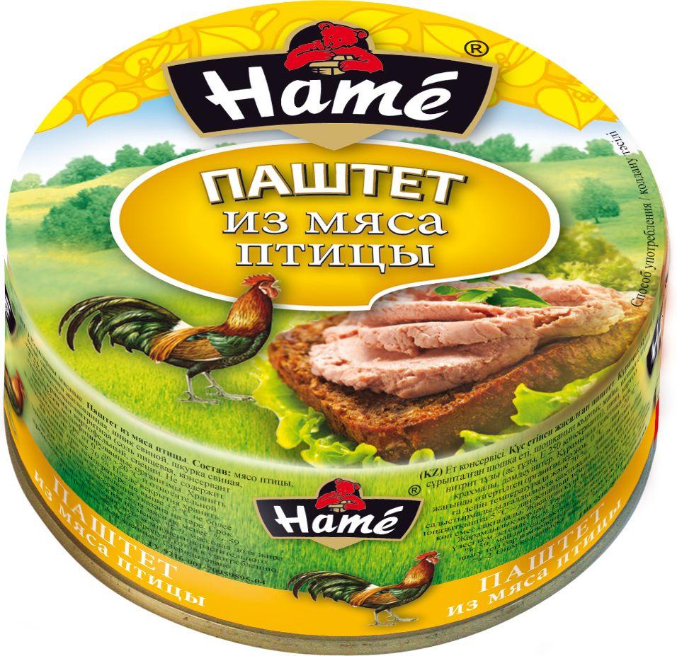 Hame Паштет из мяса птицы, 250 г hame татарский кетчуп 325 г