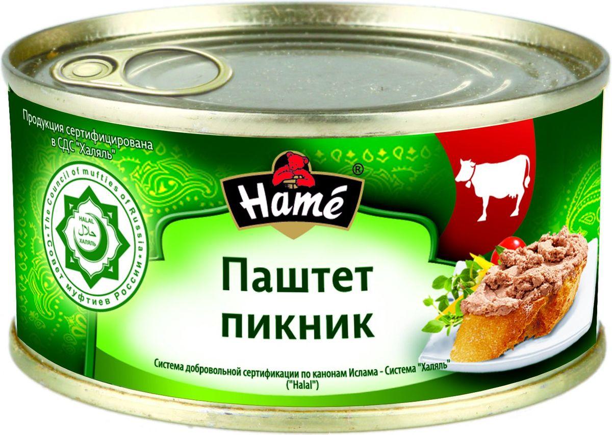 Hame Паштет Пикник халяль, 250 г hame татарский кетчуп 325 г
