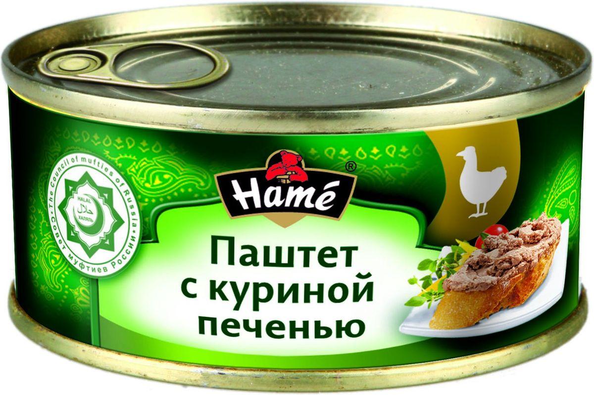 Hame Паштет с куриной печенью халяль, 250 г hame татарский кетчуп 325 г