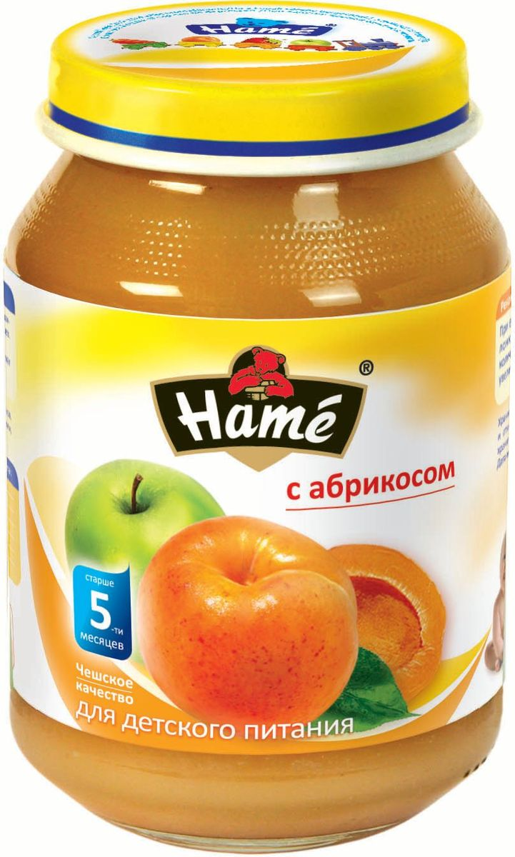 Hame абрикос фруктовое пюре, 190 г