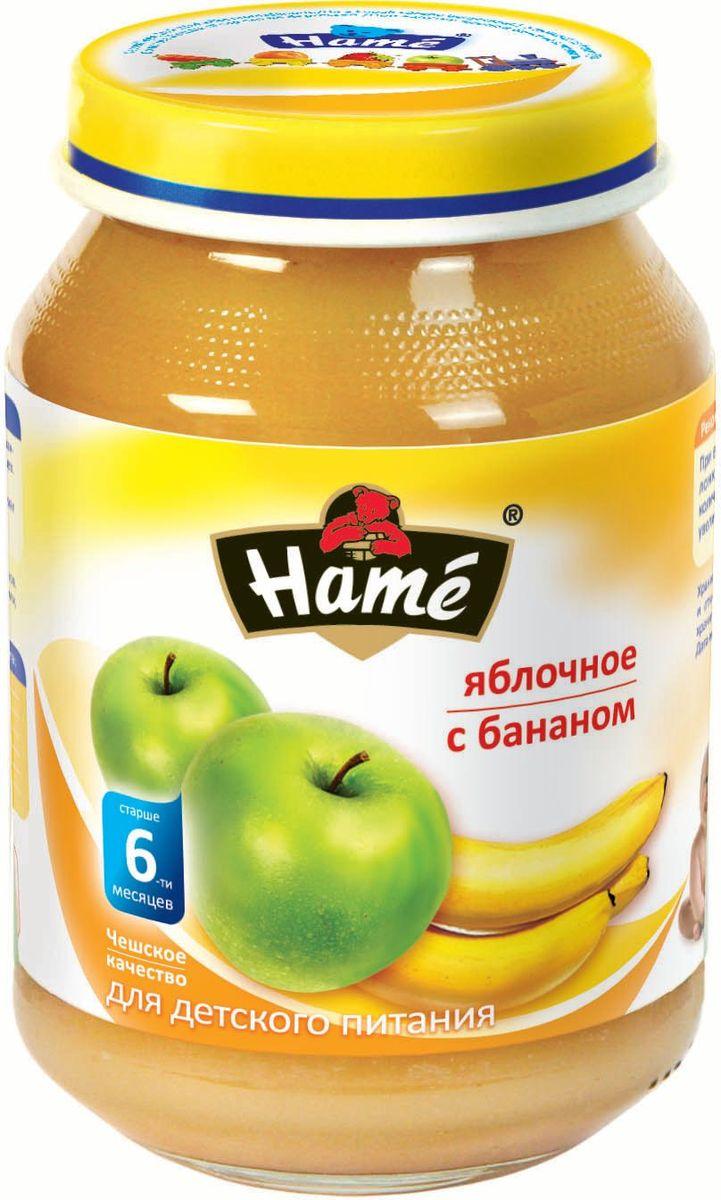 Hame яблоко - банан фруктовое пюре, 190 г