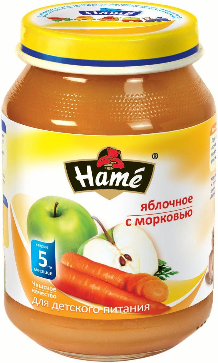 Hame яблоко - морковь фруктовое пюре, 190 г