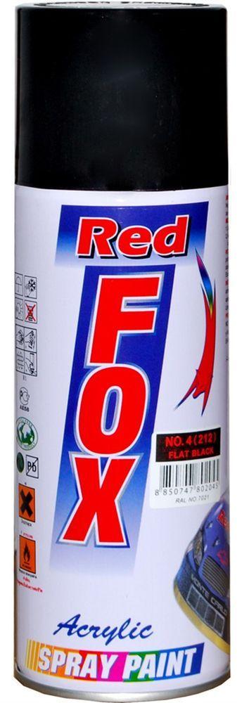 Краска акриловая Red Fox, аэрозоль, цвет: черный матовый, 520 мл карабин red fox mr 3006 цвет оранжевый