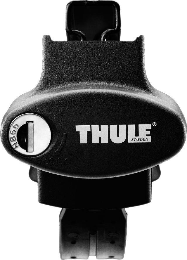 Упоры Thule Rapid System, для автомобилей с продольными дугами на широкий рейлинг. 775 комплект багажника thule wingbar edge для автомобилей с продольными рейлингами цвет черный 958420