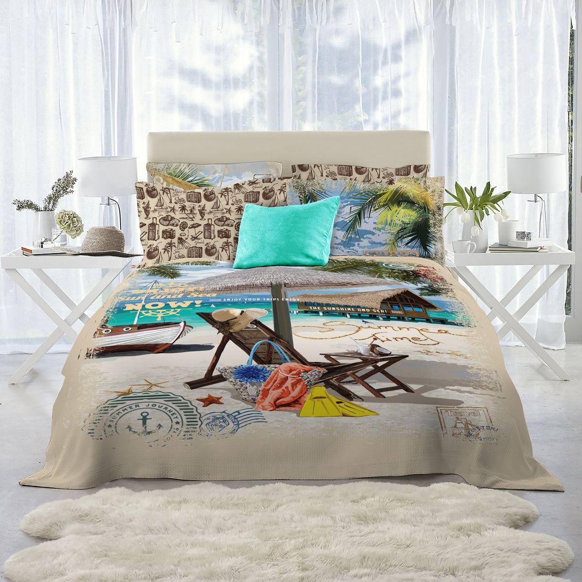 Комплект постельного белья Mona Liza Lounger, 2-спальный, наволочки 50х70, 70х70 adjustable rattan sun lounger patio garden beach lounger transport by sea