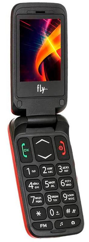 Мобильный телефон Fly Ezzy Trendy 3, красный цена