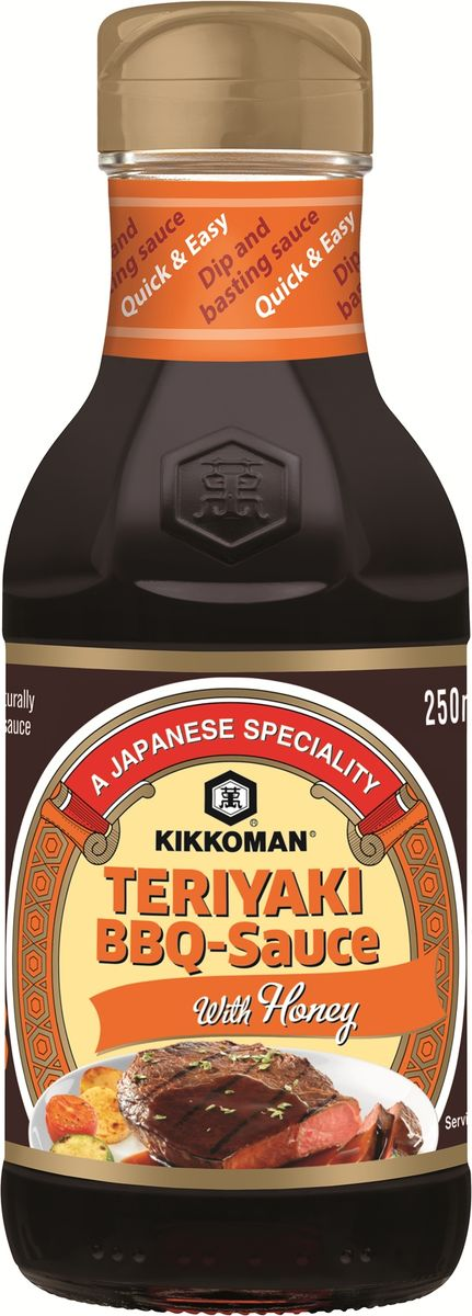 Kikkoman соус-барбекю Teriyaki с медом, 250 мл kikkoman барбекю