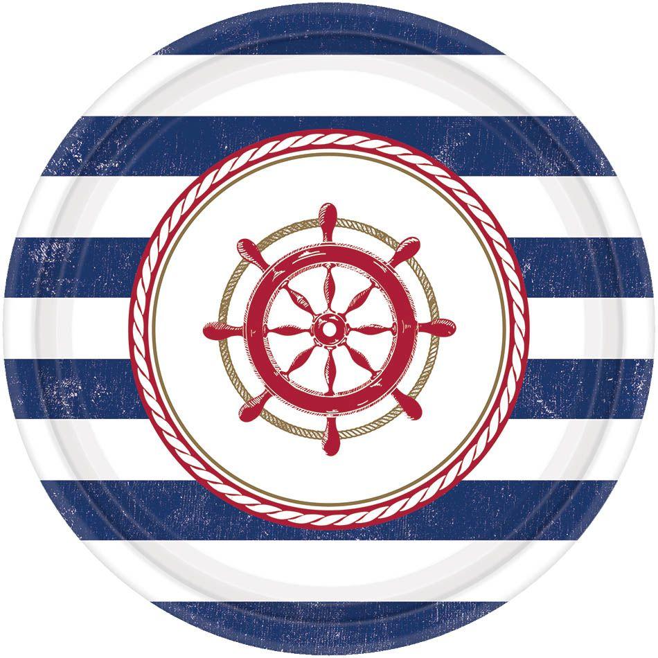 Amscan Тарелка Морская 17 см 8 шт