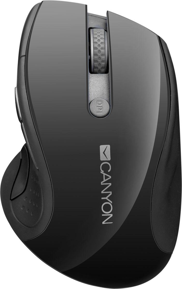 Мышь Canyon CNS-CMSW01, Black беспроводная мышь canyon cns cmsw7g