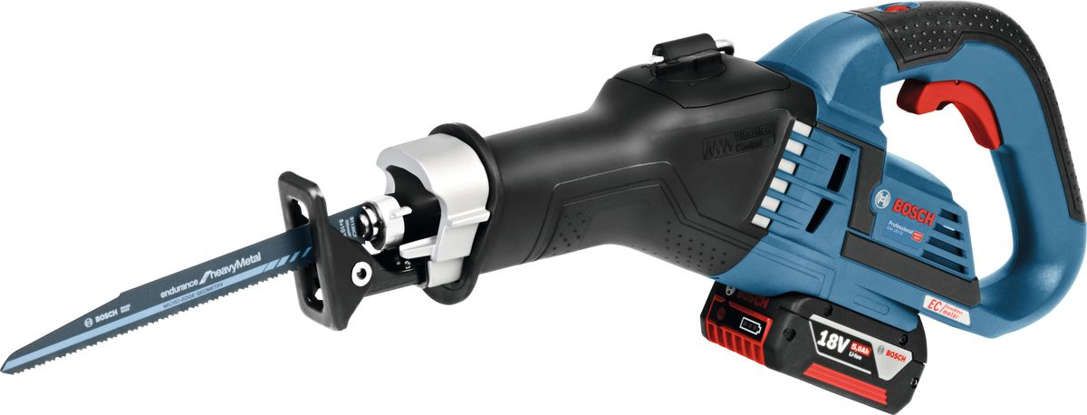 Пила сабельная аккумуляторная Bosch GSA 18V-32, 2 аккумулятора изарядное устройство сабельная пила bosch gsa 18 v li c аккум 3050ход мин