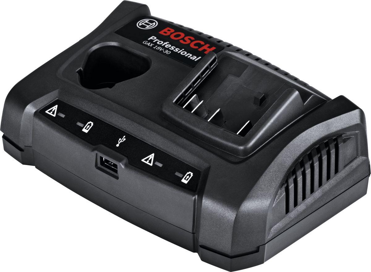 Зарядное устройство Bosch GAX 18V-30, для АКБ 12/14.4/18 В и USB. 1600A011A9 зарядное утройство bosch gax 18 v 30 1600 a 011 a9