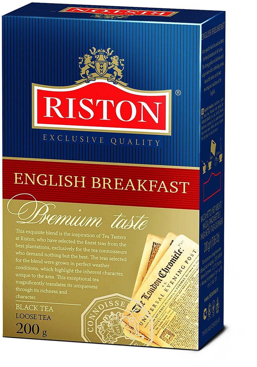 Riston Английский Завтрак ВОР черный листовой чай, 200 г чай eilles английский завтрак био черный 20 пакетиков пирамидок