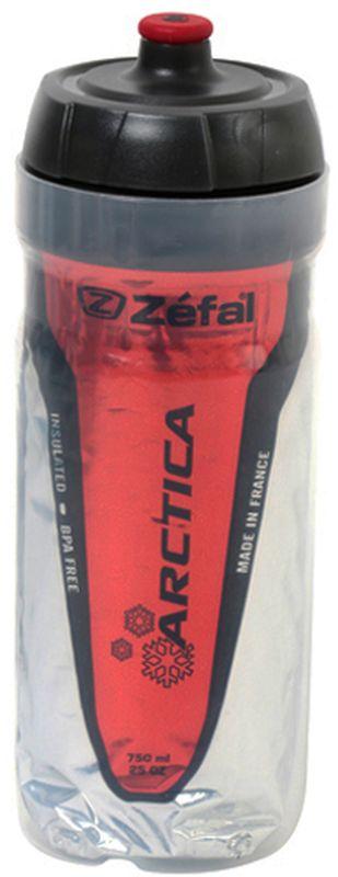 Фляга велосипедная Zefal Arctica 75, изотермическая, цвет: красный, 750 мл фляга велосипедная zefal sense m65 цвет белый 650 мл 155a