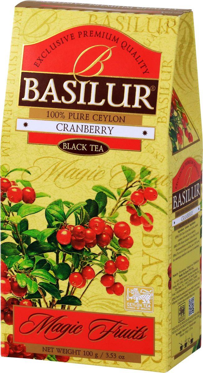Basilur Cranberry черный чай с канадской клюквой, 100 г basilur frosty afternoon черный листовой чай 100 г жестяная банка