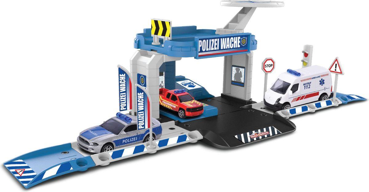 Majorette Парковка Creatix Полиция с машинкой majorette игровой набор парковка полицейская станция