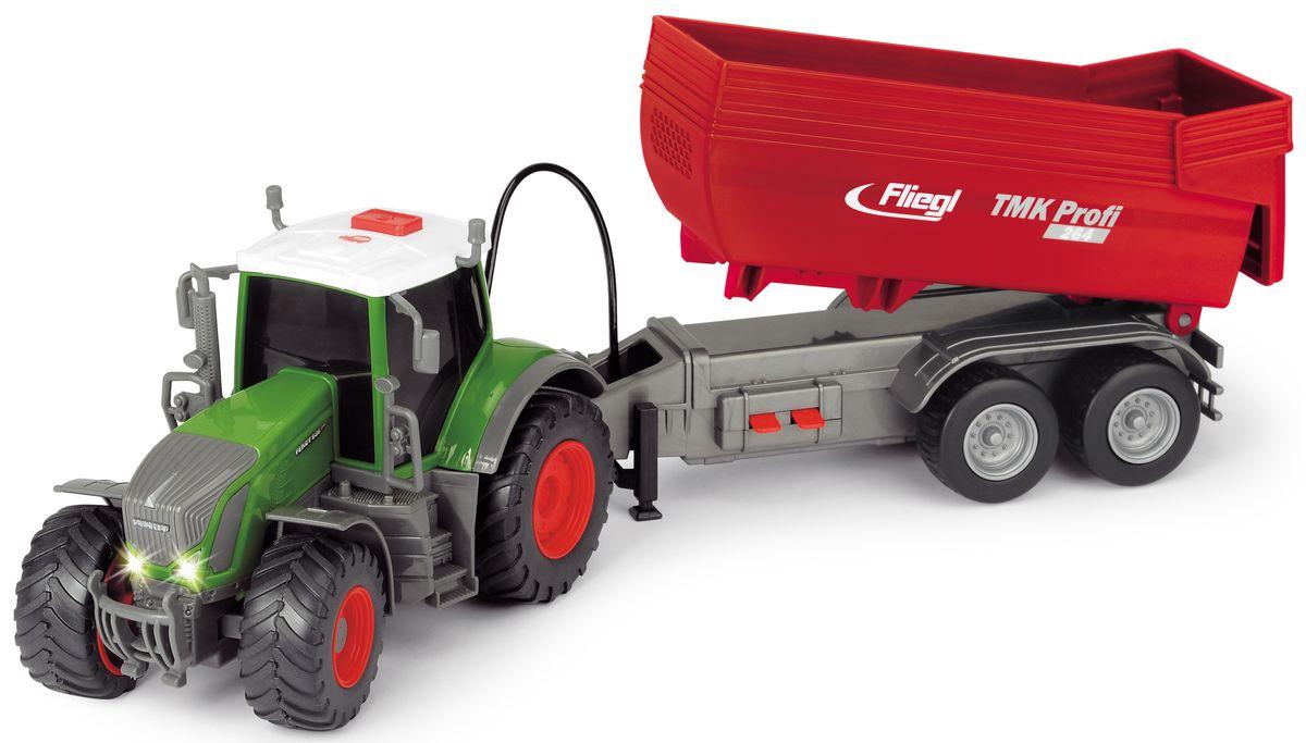 Dickie Toys Трактор Fendt с прицепом viking toys трактор экскаватор с прицепом джамбо