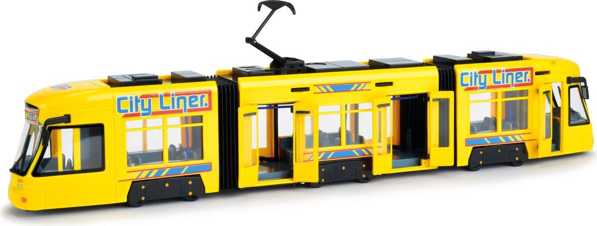 Dickie Toys Городской трамвай цвет желтый dickie toys игрушка городской поезд