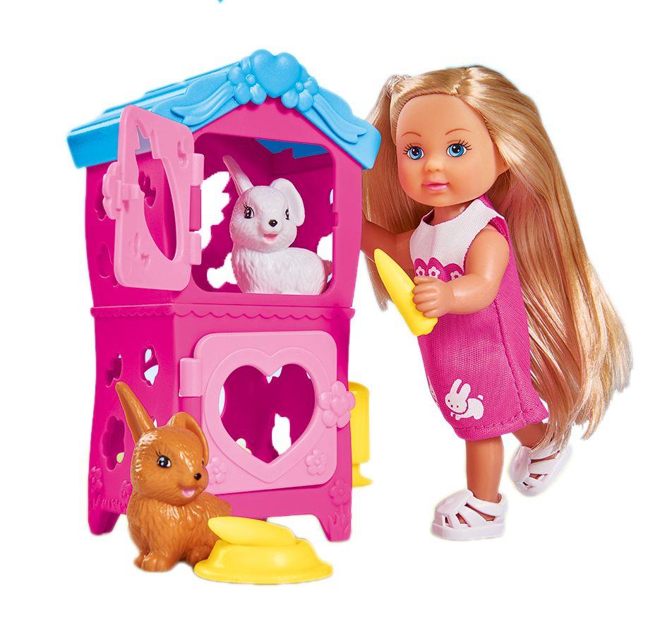 Simba Мини-кукла Еви с кроликами кукла simba еви с кроликами