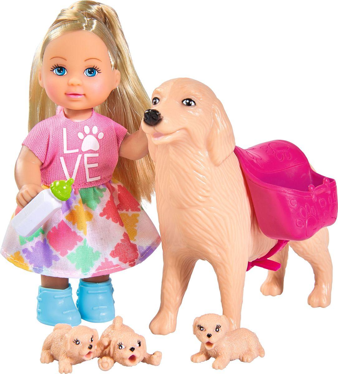 Simba Кукла Еви с собачкой и щенками кукла еви со стильной собачкой