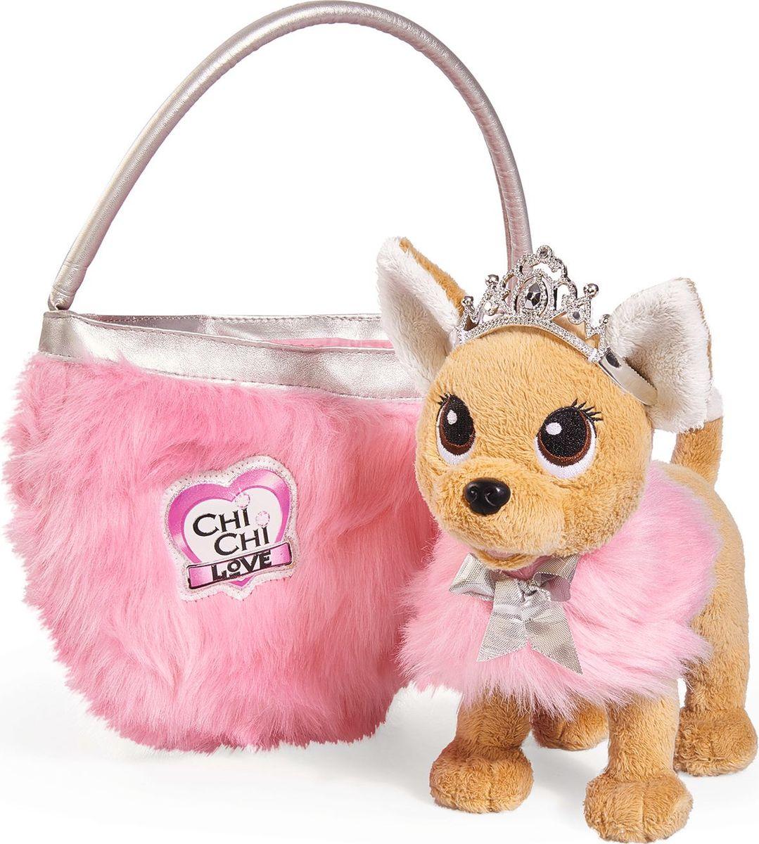 Simba Мягкая игрушка Собачка Принцесса с сумкой simba simba плюшевая собачка chi chi love путешественница с сумкой переноской 20см