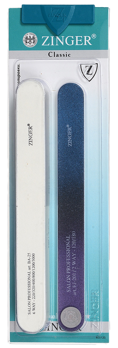Zinger Набор пилок zo-SIS-23, цвет в ассортименте. 10712 zinger набор маникюрных инструментов zo sis 43s