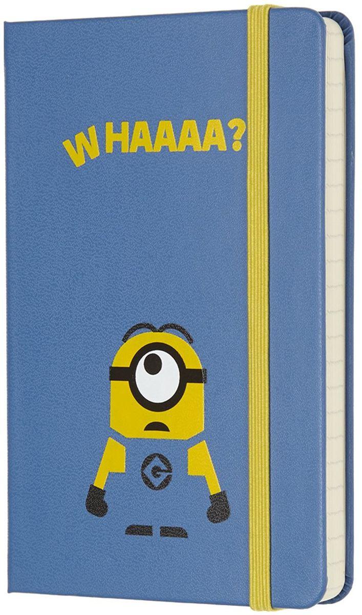Moleskine Записная книжка Minions Pocket 96 листов в линейку цвет голубой