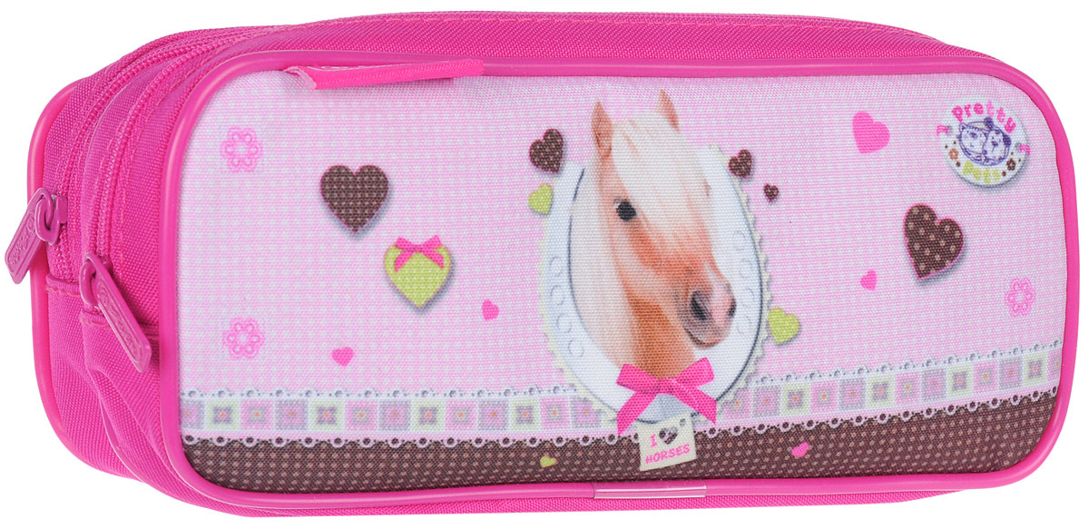 Herlitz Пенал Pretty Pets Horse