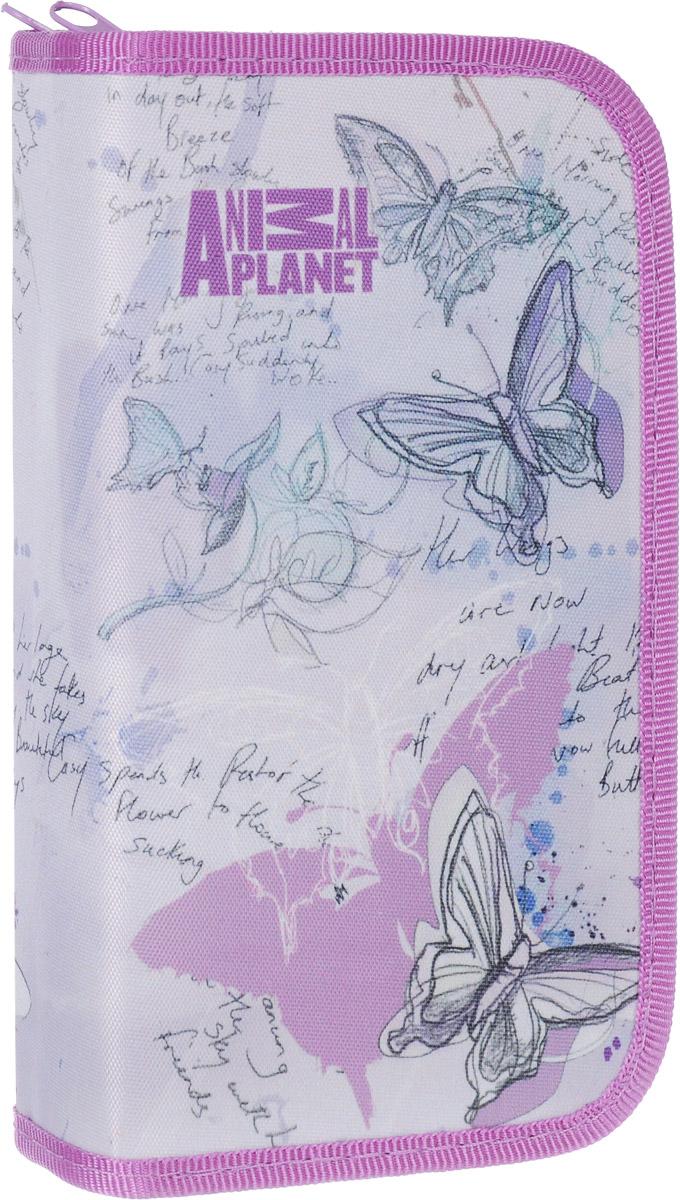 Action! Пенал Animal Planet цвет сиреневый AP-APC4227/2 пенал косметичка animal planet колибри 3 отд 2 молнии без наполн разм 21х10 см для девочек ap apc4216 1 15