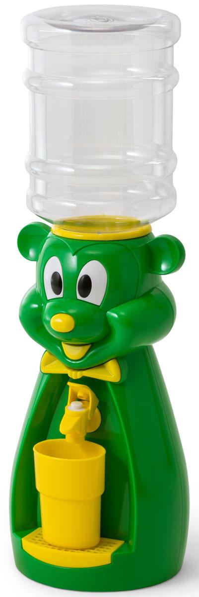 Кулер для воды Vatten Kids Mouse, Green Red, со стаканчиком Vatten