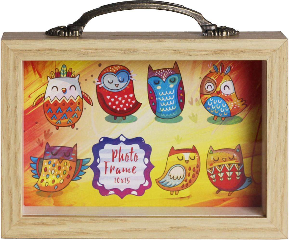 Копилка-фоторамка Magic Home Милые совы, 10 х 15 см фоторамка кино magic home фоторамка кино