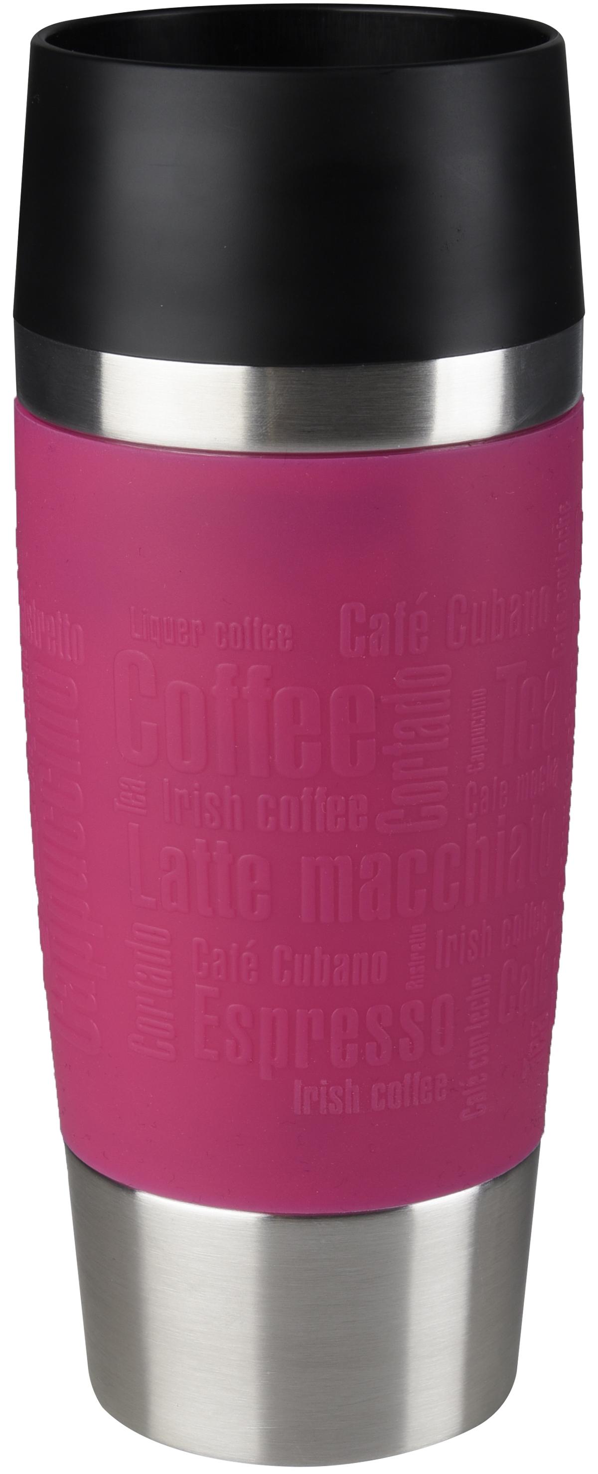 Термокружка Emsa Travel Mug, цвет: розовый, 360 мл термокружка emsa travel mug 360 мл сталь пластик красный