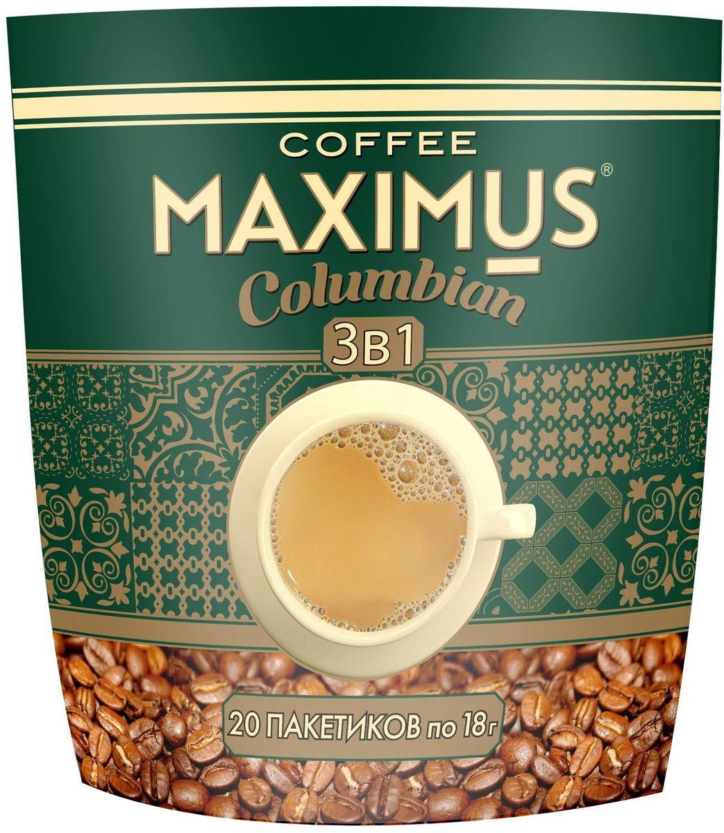 Maximus Columbianрастворимый кофейный напиток в пакетиках, 20 шт MAXIMUS