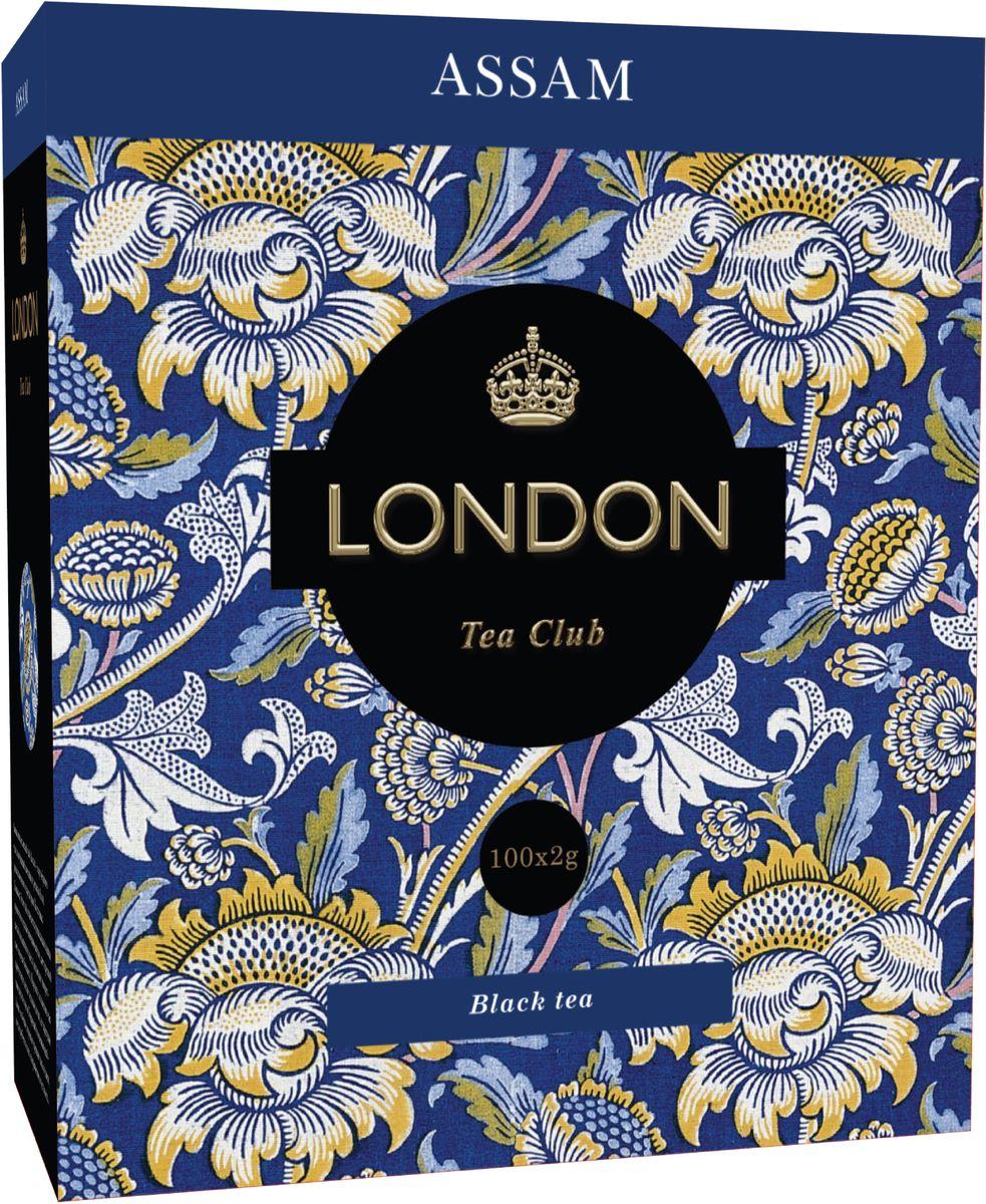 London Tea Club Assam черный чай в пакетиках, 100 шт 2015 arrival vacuum pack lapsang souchong canton village black tea 500g ceylon assam premium selection count special pearl milk