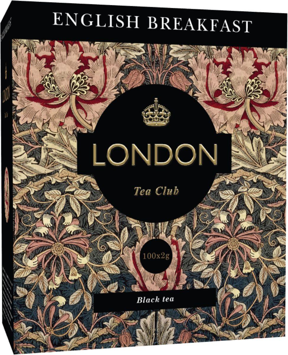 London Tea Club English Breakfast черный чай в пакетиках, 100 шт