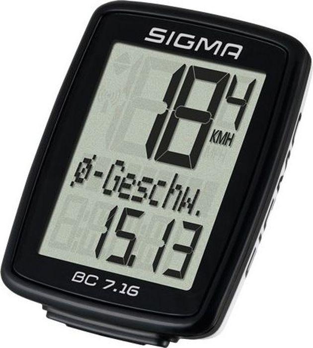 цена на Велокомпьютер Sigma Topline BC 7.16, проводной, 7 функций