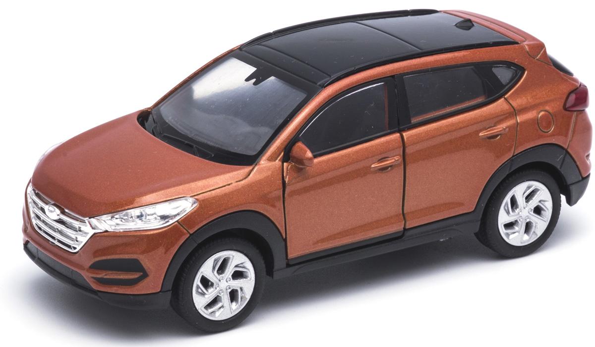 Welly Модель автомобиля Hyundai Tucson цвет кирпичный