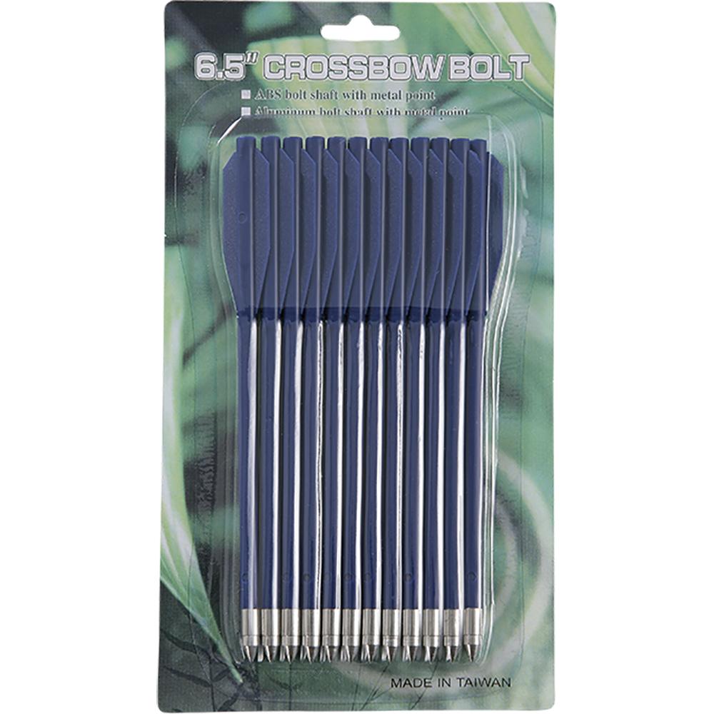 Набор стрел Man Kung, для арбалета-пистолета, цвет: синий, длина 6,5, 12 шт цена