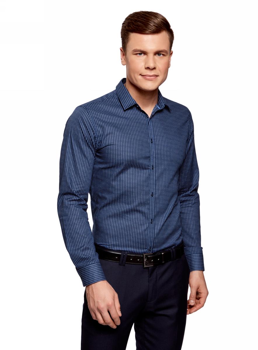 Рубашка oodji рубашка мужская oodji цвет голубой 3b140003m 39767n 7001c размер 42 52 182