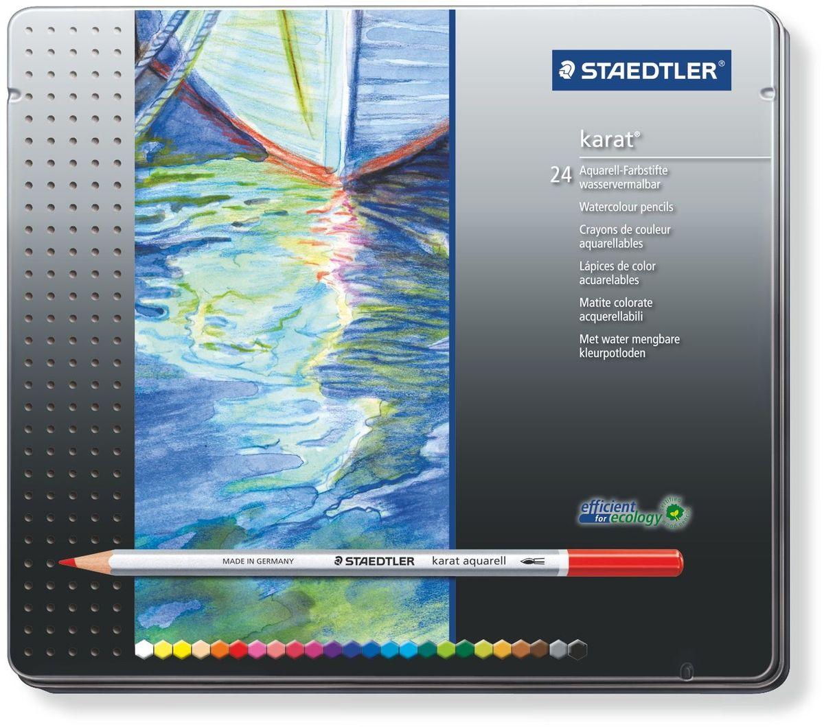 Staedtler Набор акварельных карандашей Karat Aquarell 125 24 шт набор карандашей акварельных mondeluz 24 цв