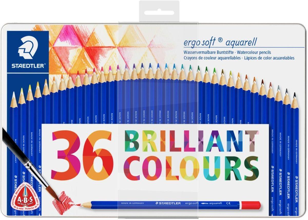 Staedtler Набор акварельных карандашей Ergosoft 156 36 цветов staedtler карандаш акварельный karataquarell набор 36 цветов