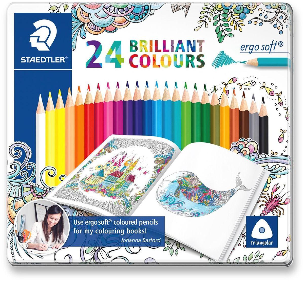 Staedtler Набор цветных карандашей Ergosoft 157 24 цвета staedtler staedtler акварельные карандаши ergosoft 12 цветов