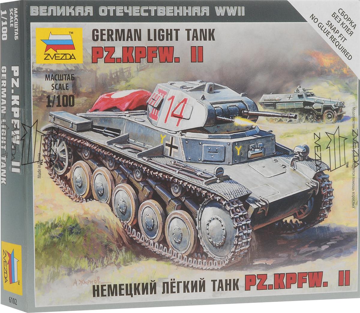 1deb3cb82 Звезда Сборная модель Немецкий легкий танк PZ.KPFW.II — купить в интернет-магазине  OZON с быстрой доставкой