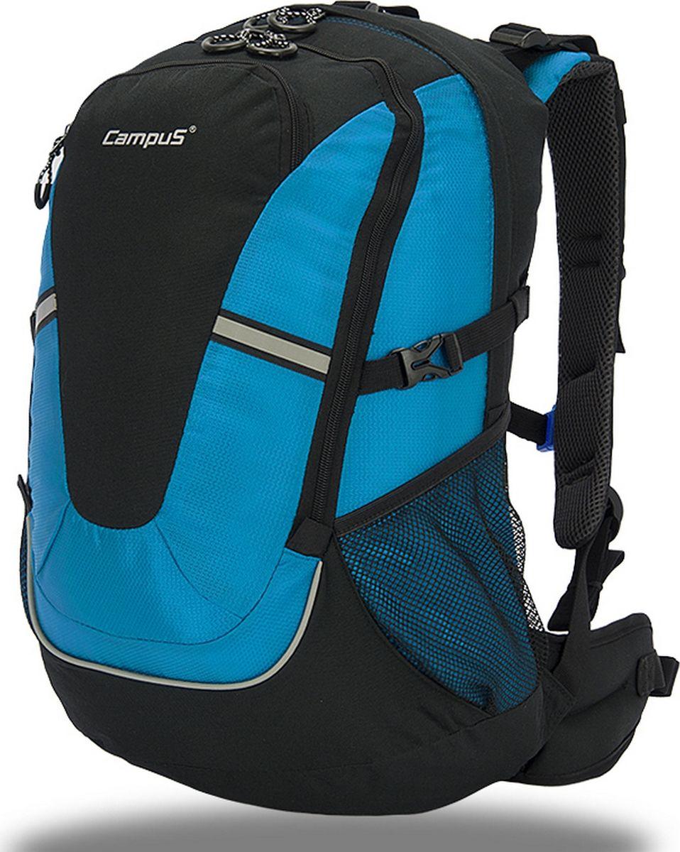 Рюкзак туристический Campus Horton 2, цвет: черный, синий, 30 л. 5038025132234