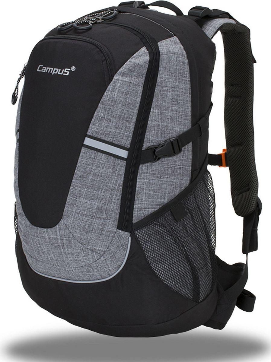 Рюкзак туристический Campus Horton 2, цвет: черный, серый, 30 л. 5038025132265