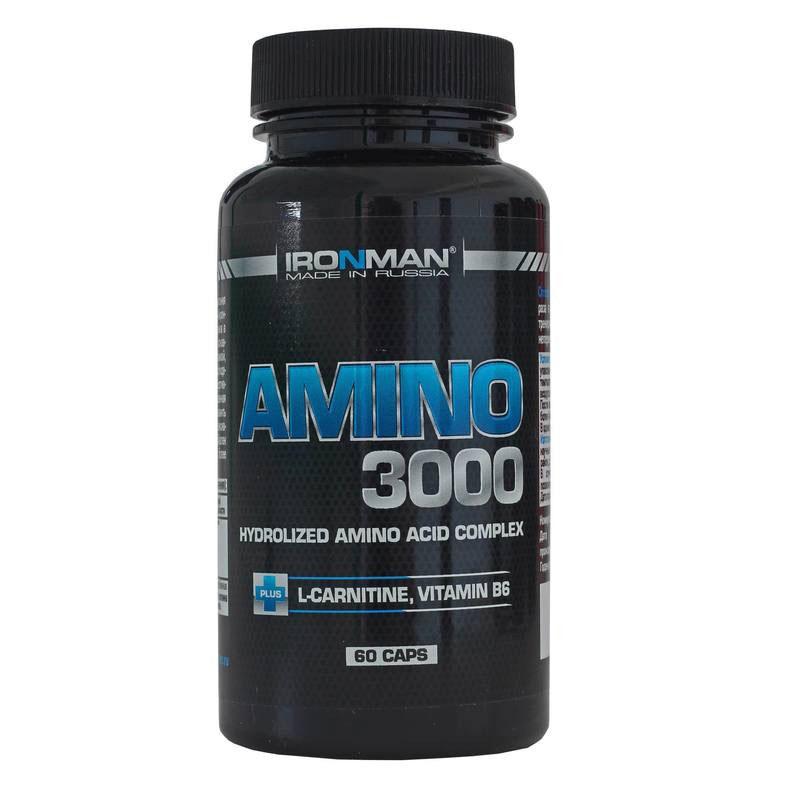 Аминокислотный комплекс Ironman Амино 3000, 60 капсул
