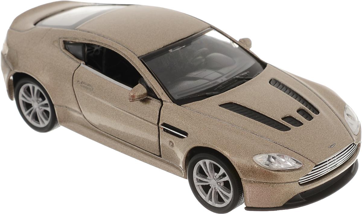 Welly Модель автомобиля Aston Martin V12 Vantage цвет золотистый