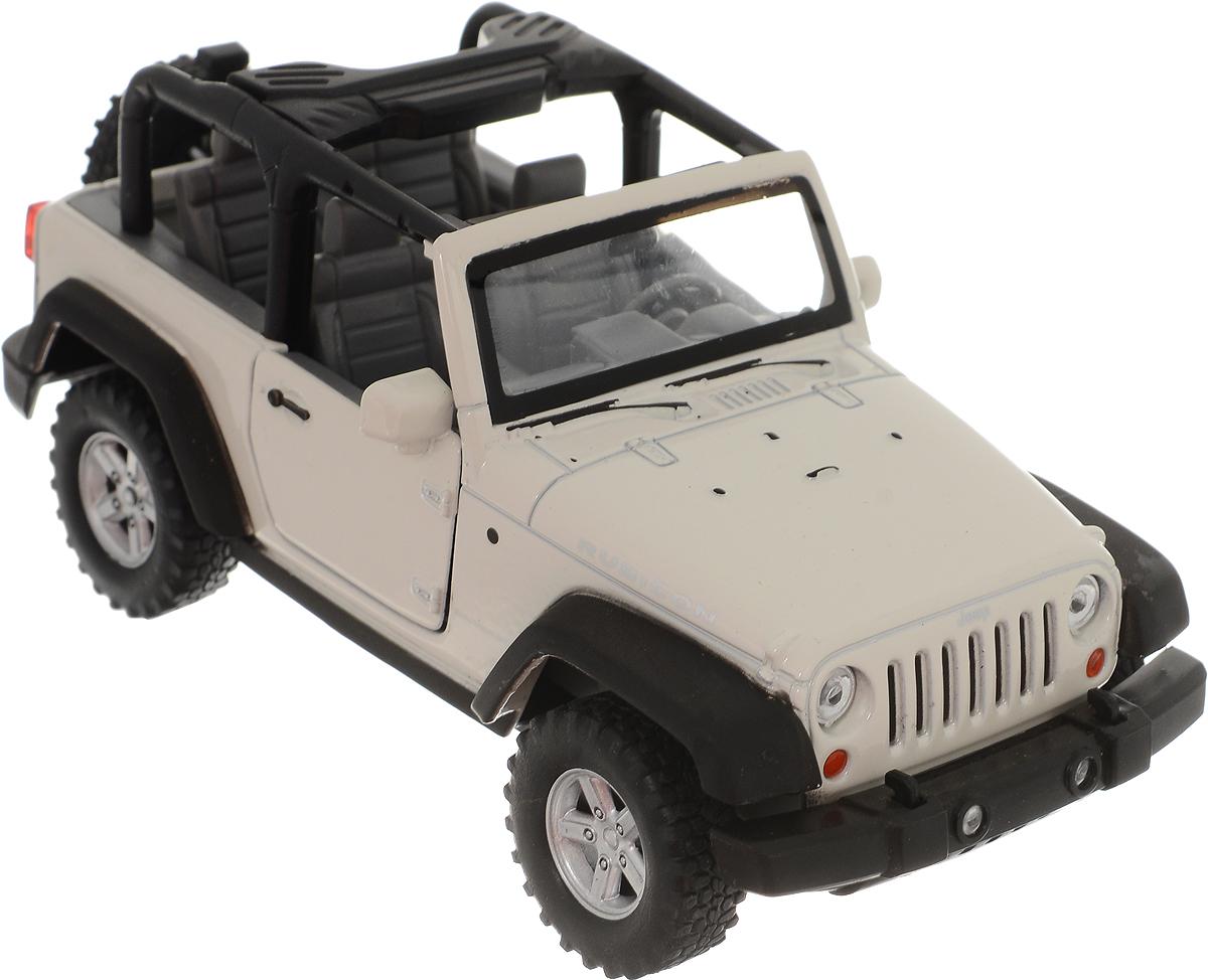 цена на Welly Модель автомобиля Jeep Wrangler Rubicon цвет белый