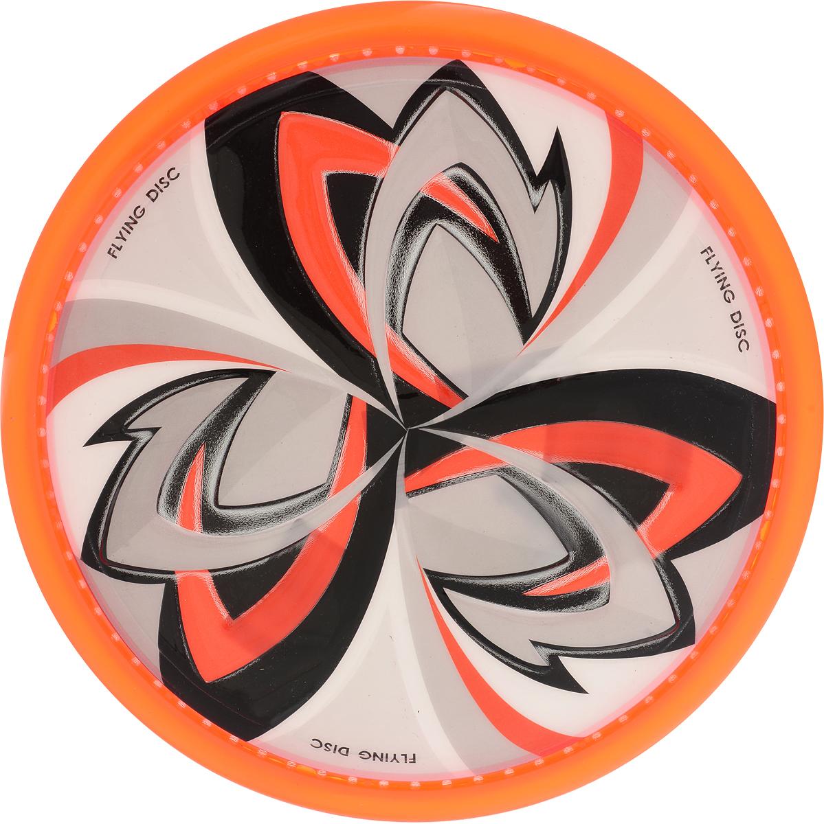 YG Sport Летающая тарелка цвет оранжевый диаметр 25 см