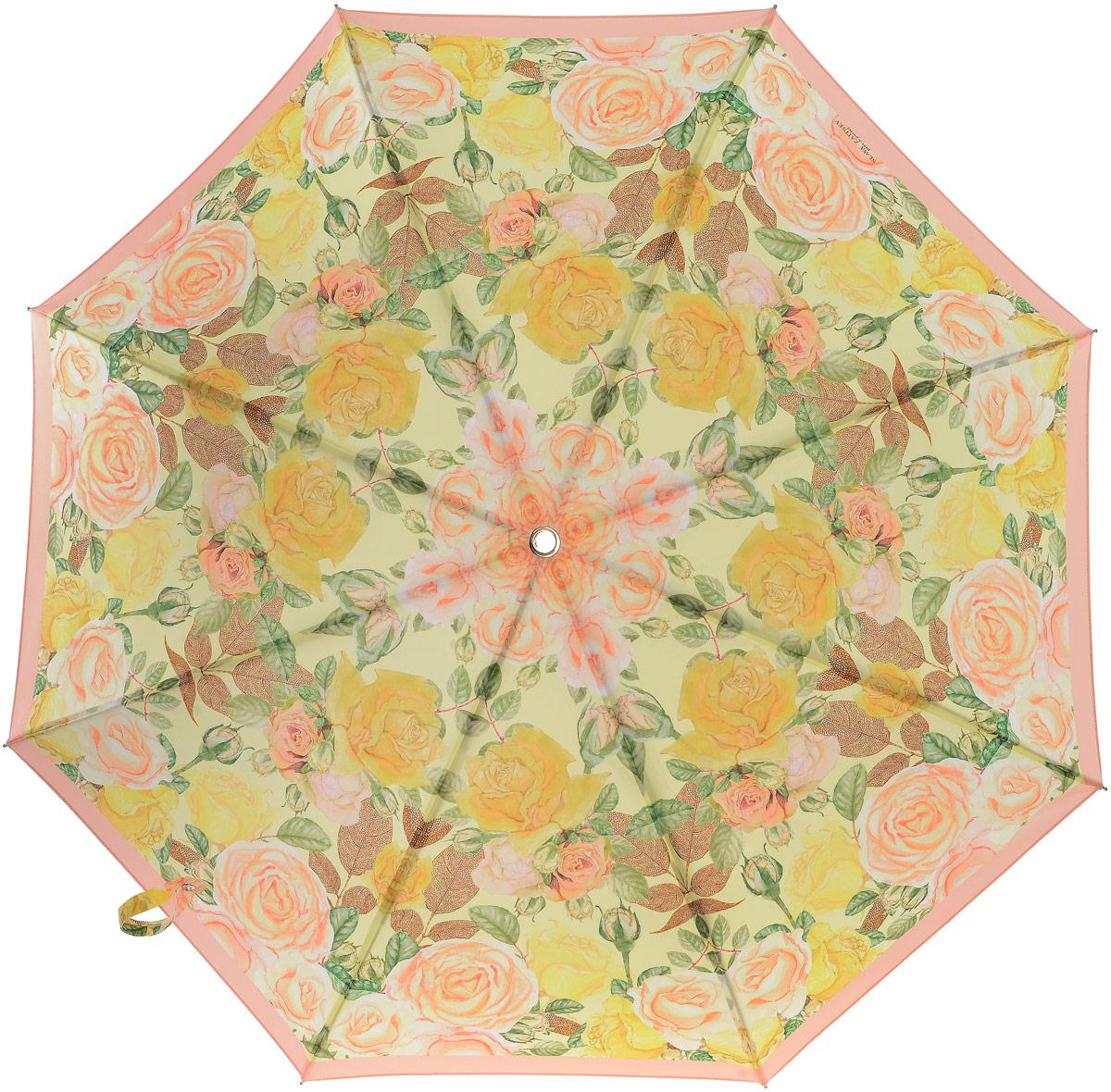 Зонт-трость женский Slava Zaitsev, механика, цвет: желтый. SZ-082 зонт slava zaitsev